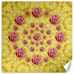 Roses And Fantasy Roses Canvas 12  X 12   by pepitasart