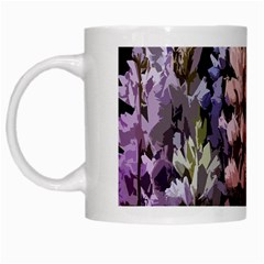 Flowers White Mugs by Valentinaart