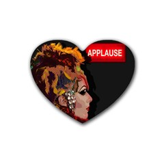 Transvestite Rubber Coaster (heart)  by Valentinaart