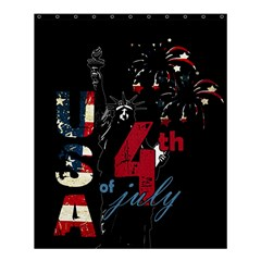 4th Of July Independence Day Shower Curtain 60  X 72  (medium)  by Valentinaart