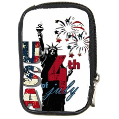 4th Of July Independence Day Compact Camera Cases by Valentinaart