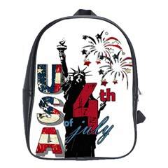 4th Of July Independence Day School Bags(large)