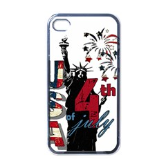 4th Of July Independence Day Apple Iphone 4 Case (black) by Valentinaart