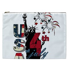 4th Of July Independence Day Cosmetic Bag (xxl)  by Valentinaart