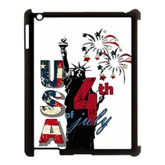 4th Of July Independence Day Apple Ipad 3/4 Case (black) by Valentinaart