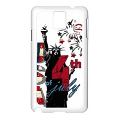 4th Of July Independence Day Samsung Galaxy Note 3 N9005 Case (white)