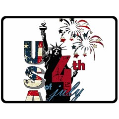 4th Of July Independence Day Double Sided Fleece Blanket (large)