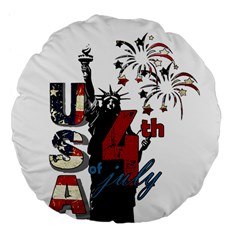 4th Of July Independence Day Large 18  Premium Flano Round Cushions