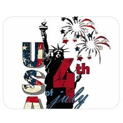 4th Of July Independence Day Double Sided Flano Blanket (medium)