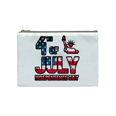 4th Of July Independence Day Cosmetic Bag (medium)  by Valentinaart