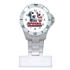 4th Of July Independence Day Plastic Nurses Watch