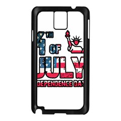 4th Of July Independence Day Samsung Galaxy Note 3 N9005 Case (black) by Valentinaart