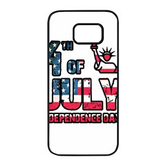 4th Of July Independence Day Samsung Galaxy S7 Edge Black Seamless Case