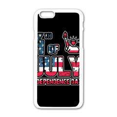 4th Of July Independence Day Apple Iphone 6/6s White Enamel Case