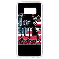 4th Of July Independence Day Samsung Galaxy S8 White Seamless Case