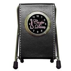 Carpe Diem  Pen Holder Desk Clocks by Valentinaart