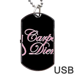 Carpe Diem  Dog Tag Usb Flash (two Sides)