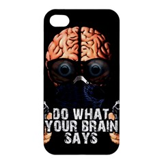 Do What Your Brain Says Apple Iphone 4/4s Hardshell Case by Valentinaart