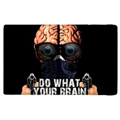 Do What Your Brain Says Apple Ipad 2 Flip Case by Valentinaart