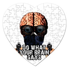 Do What Your Brain Says Jigsaw Puzzle (heart) by Valentinaart