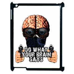 Do What Your Brain Says Apple Ipad 2 Case (black) by Valentinaart