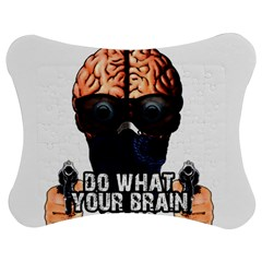 Do What Your Brain Says Jigsaw Puzzle Photo Stand (bow) by Valentinaart