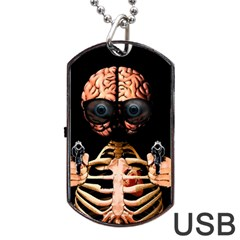 Do What Your Brain Says Dog Tag Usb Flash (one Side)