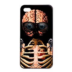 Do What Your Brain Says Apple Iphone 4/4s Seamless Case (black) by Valentinaart