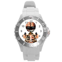 Do What Your Brain Says Round Plastic Sport Watch (l) by Valentinaart