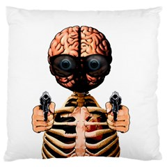 Do What Your Brain Says Standard Flano Cushion Case (two Sides)