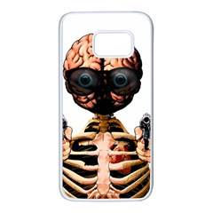 Do What Your Brain Says Samsung Galaxy S7 White Seamless Case by Valentinaart