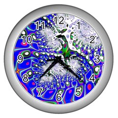 Fractal Fantasy 717c Wall Clocks (silver)  by Fractalworld