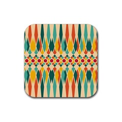 Festive Pattern Rubber Square Coaster (4 Pack)  by linceazul