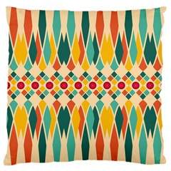 Festive Pattern Large Cushion Case (one Side) by linceazul