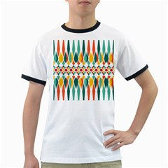 Festive Pattern Ringer T Shirts by linceazul