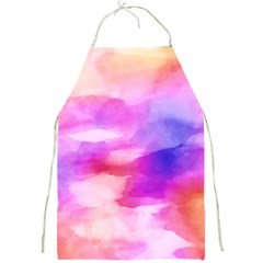 Colorful Abstract Pink And Purple Pattern Full Print Aprons by paulaoliveiradesign