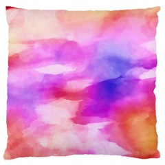 Colorful Abstract Pink And Purple Pattern Large Cushion Case (two Sides) by paulaoliveiradesign