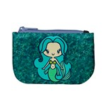 Aqua Mermaid Coin Change Purse Front