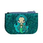 Aqua Mermaid Coin Change Purse Back