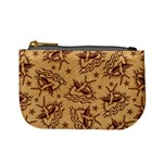 Sparrow and Star Tattoo Pattern Coin Change Purse Front