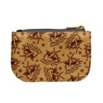 Sparrow and Star Tattoo Pattern Coin Change Purse Back