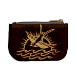Sparrow Tattoo - Tan & Brown Coin Change Purse Back