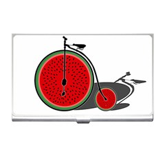 Watermelon Bicycle  Business Card Holders by Valentinaart