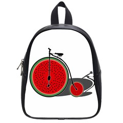 Watermelon Bicycle  School Bags (small)  by Valentinaart