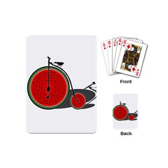 Watermelon Bicycle  Playing Cards (mini)  by Valentinaart