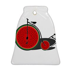 Watermelon Bicycle  Ornament (bell)