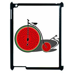 Watermelon Bicycle  Apple Ipad 2 Case (black) by Valentinaart