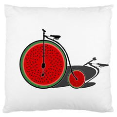 Watermelon Bicycle  Large Flano Cushion Case (two Sides) by Valentinaart