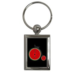 Watermelon Bicycle  Key Chains (rectangle)  by Valentinaart
