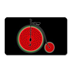 Watermelon Bicycle  Magnet (rectangular) by Valentinaart